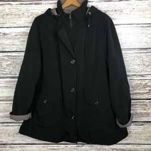 Gallery Woman Hooded Warm Lined Rain Coat 2X
